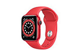 APPLE Apple Watch Series 6 GPS, Aluminium PRODUCT(RED), 40 mm mit Sportarmband, rot